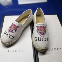 GUCCI 2018 women's new wild casual flat shoes fisherman shoes F-OMDP-GD