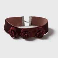 Rose Velvet Choker Necklace - Jewelry - Bags & Accessories
