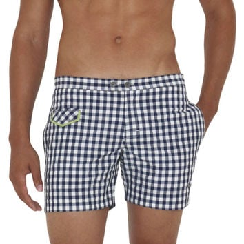"5"" Gingham Lido Swim Trunk"