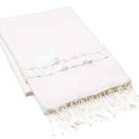 Lace Fouta, White, Fouta Towels