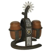 Rivers Edge Products Cast Iron Spur Salt and Pepper Shaker