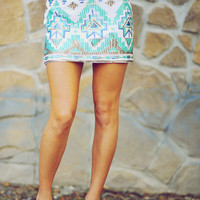 Only Star I See Tonight Skirt: Turquoise | Hope's