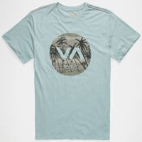 Rvca Deadmans Bay Mens T-Shirt Light Blue  In Sizes
