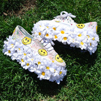 HandPainted Flower Power Flatform Sneakers by 312style on Etsy