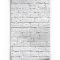 Sample of Soft White Bricks Boutique Faux Wallpaper design by Milton & King