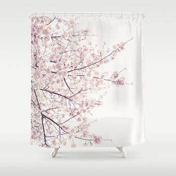 cherry blossom Shower Curtain by Neon Wildlife
