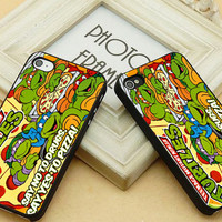 TMNT ninja turtle say yes to pizza, FIT for iP4,iP5, Samsung S2/S3/S4/mini,Note 2/3, Htc One/One X,BB