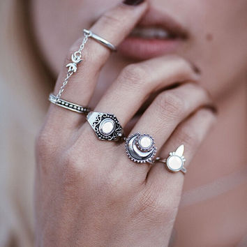Gothic Style Rings 5Pcs