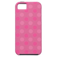 Cabaret Red Fuchsia And Pink Polka Dots Pattern iPhone 5 Cover from Zazzle.com