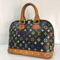 Auth Louis Vuitton Monogram MultiColor Alma Hand Bag 8C200400m