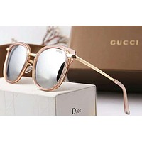 Gucci Fashion Women Casual Sun Shades Eyeglasses Glasses Sunglasses Black+Pink G-A-SDYJ