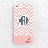 Anchor Chevron Monogram Phone Case for iPhone 6, iPhone 5 5s 5c, Sony z1 z3 compact, LG G2 nexus 6 Monogrammed Case with personalized name