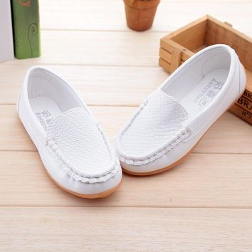 Fashion Online 2016 New Boys &girls Leather Shoes Baby Moccasins Kids Shoes Loafers Sneakers Fashion Children Shoes For Soft Bottom Boys X189