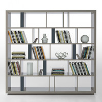 Grey Modern Bookshelf & Room Divider