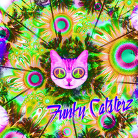 Summertime Sadness - Psychedelic Tropical Cat Print 8x12 from Funky Catsterz