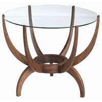Arteriors Home Oswald Walnut Solids/Glass End Table - Arteriors Home 5346