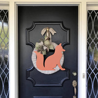 Fox Wreath Contemporary Fox Decor Woodland Wreath Fox Copper Fox Wreath Front Door Wreath Summer Wreath Fall Wreath Contemporary Decor Fox