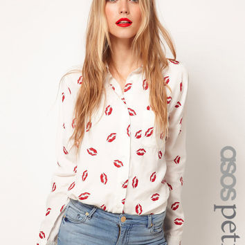 Chiffon Shirt Vintage Dolls Print Long Sleeve Bottoming Shirt [10356676109]