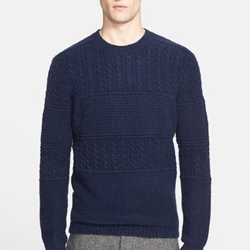 Men's Norse Projects 'Arild' Cable Knit Merino Wool Blend Sweater,
