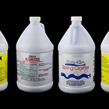 By PoolCentral Crystal-Aqua Swimming Pool Spring Opening Kit - Shock Clarifier & Algaecide