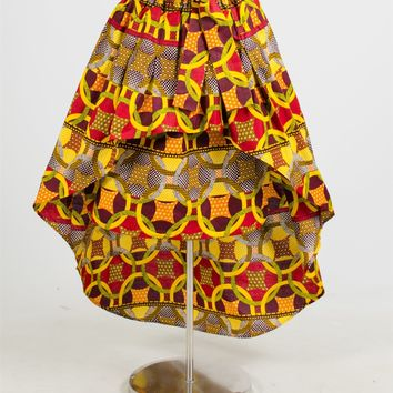 NF 212 Authentic African Print Skirt