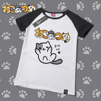 Neko Atsume Cute Kawaii Cat T-Shirt V4