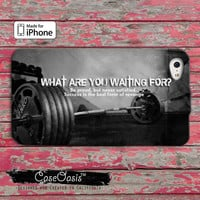 Gym Crossfit Custom iPhone 4 and 4s Case and Custom iPhone 5 and 5s and 5c Case wod working out buff