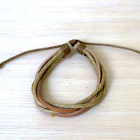 5 String Adjustable Leather Bracelet