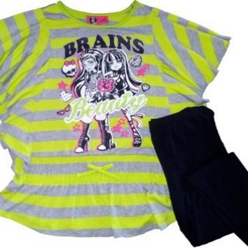 Monster High Brains and Beauty Tunic Top Outfit Set (XL (14/16))