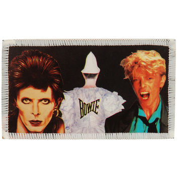 David Bowie Men's Collage Photo Patch Black