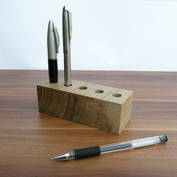 Pen Holder, Wood Desk Organizer. Wooden Pencil Holder, Wood Desk Storage, Desk Organizer, Office Organization.