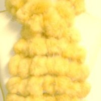 Imported Light Gold Color Four Strand Luxurious Rabbit Fur Scarf for Women and Teens Offered in Comb