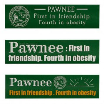 PARKS AND RECREATION PAWNEE BUMPER STICKER SET [SET OF 3]