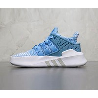 Adidas EQT BASK ADV Trending Women Stylish Leisure Sport Running Shoes Sneakers Blue(White Sole) I-AHXF