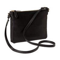 Old Navy Large Double Zip Crossbody Bag Size One Size - Black