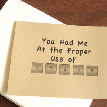 Funny Greeting Card Valentine's Card by CraftColorfully on Etsy