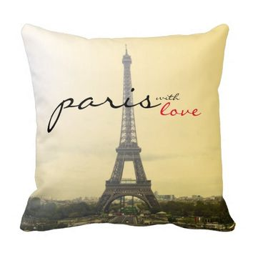 Paris with Love Throw Pillows