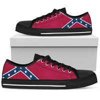 Dixie Flag Sneakers Low Top Mens
