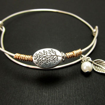 Stacking Bangles, Adjustable Bangle,Charms Bracelet, Sterling Silver wire, LoVE Friendship  Bridesmaid, Mothers day Gift, Wedding bangles