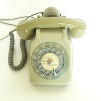 "Vintage Phone French ""Mother-in Law"" listener Old rotary telephone - Dial phone"