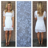 Ivory Lace Belle Dress