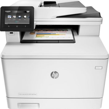 HP - LaserJet Pro MFP m477fnw Color All-In-One Printer - White