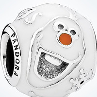 Disney Parks Frozen Olaf Bead Sterling Silver Charm Pandora New