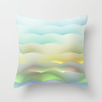 Above the Clouds Throw Pillow by Lyle Hatch | Society6