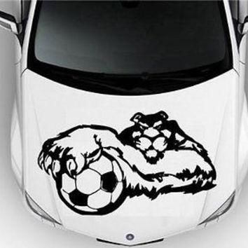 Hood Auto Car Vinyl Decal Stickers Sport Puma Soccer Football Barcelona 6810