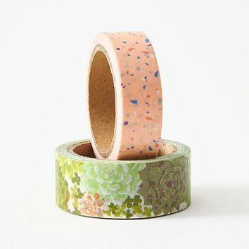 Succulent and Terrazzo Washi Tape Set of 2