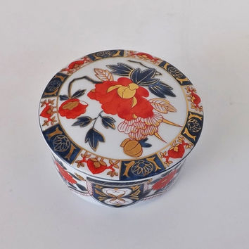 Trinket Box Ashibi Japan Porcelain Vintage