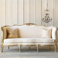 Eloquence One of a Kind Vintage Daybed Louis XV Cream