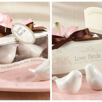 120Pcs Love birds Ceramic Salt and Pepper Shakers Wedding favors