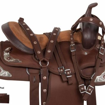 NEW BROWN COMFY 15 16 17 18 TRAIL HORSE WESTERN PLEASURE SADDLE TACK PAD
